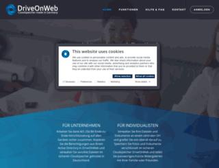 driveonweb.de screenshot