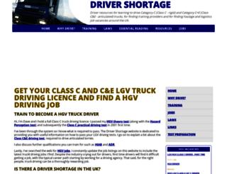 drivershortage.co.uk screenshot