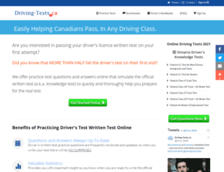 driving-tests.ca screenshot