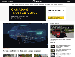 driving.canada.com screenshot