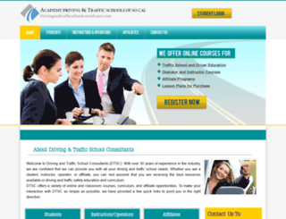 drivingandtrafficschoolconsultants.com screenshot