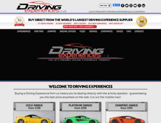drivingexperiences.co.uk screenshot