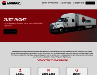 drivingjobs.landair.com screenshot