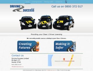 drivingsuccess.co.nz screenshot