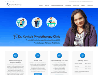 drkavitaphysio.com screenshot