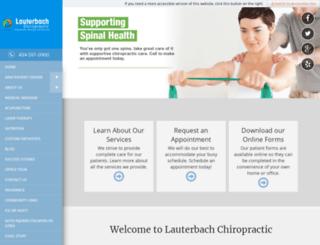 drlauterbach.chiromatrixbase.com screenshot