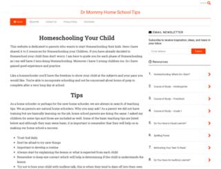 drmommyhomeschooltips.com screenshot