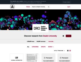 dro.deakin.edu.au screenshot