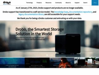 drobo.com screenshot