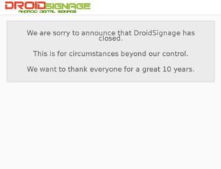 droidsignage.net screenshot