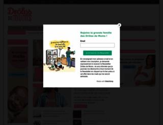 drolesdemums.com screenshot