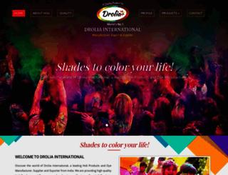 droliainternational.com screenshot