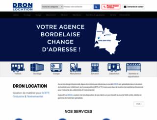 dron.fr screenshot
