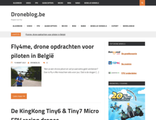 droneblog.be screenshot