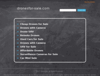 dronesfor-sale.com screenshot