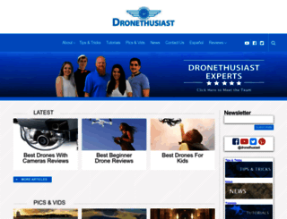 dronethusiast.com screenshot