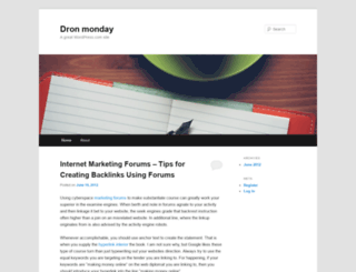 dronmonday.wordpress.com screenshot