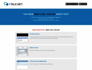 drop-a-veil.1talk.net screenshot