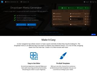 dropdownmenugenerator.com screenshot