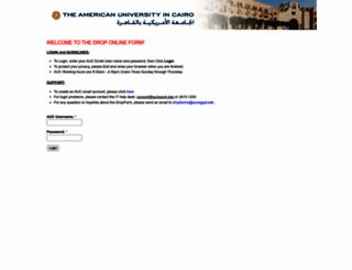 dropforms.aucegypt.edu screenshot