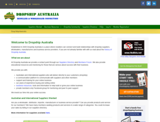 dropshipaustralia.com.au screenshot