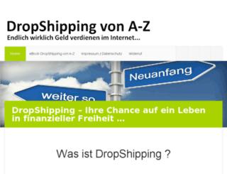 dropshipping-von-a-z.com screenshot