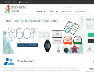 dropshippingcustom.com screenshot