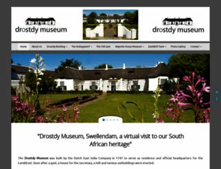 drostdymuseum.co.za screenshot