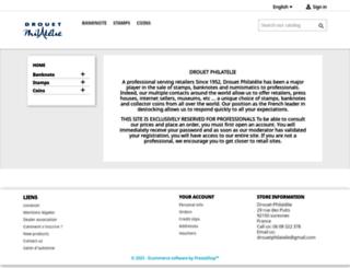 drouetphilatelie.fr screenshot