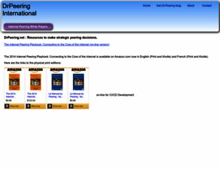 drpeering.net screenshot
