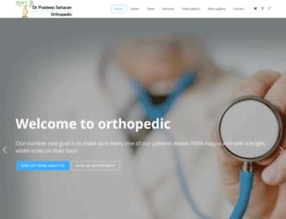 drpradeepsaharan.com screenshot