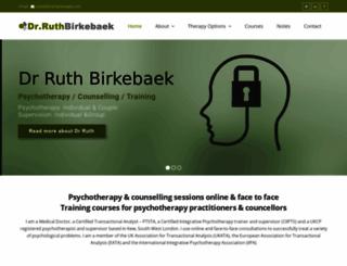 drruthbirkebaek.com screenshot