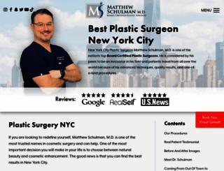 drschulmanplasticsurgery.com screenshot