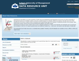 dru.lums.edu.pk screenshot