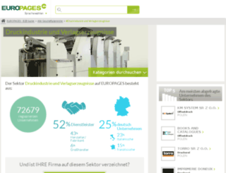druckindustrie-verlagserzeugnisse.europages.de screenshot