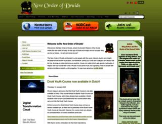druidcircle.org screenshot