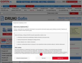 druki.gofin.pl screenshot