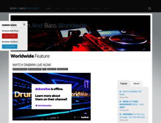 drumandbassworldwide.co.uk screenshot