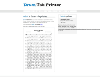 drumtabprinter.fabali.net screenshot