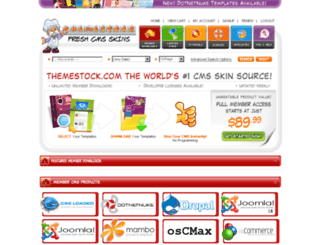 drupal-templates.themestock.com screenshot