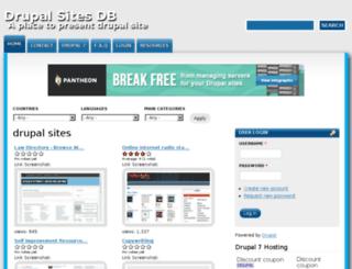 drupalsitesdb.com screenshot