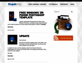 drupalstyle.com screenshot
