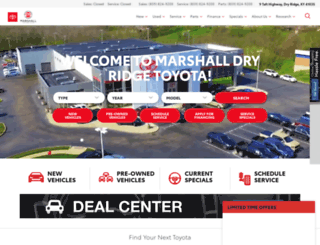 dryridgetoyota.com screenshot
