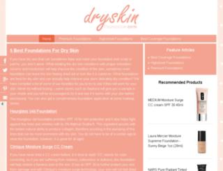 dryskinfoundation.com screenshot
