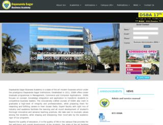 dsba.edu.in screenshot