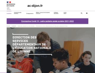 dsden89.ac-dijon.fr screenshot