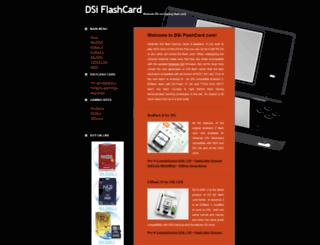 dsiflashcard.com screenshot