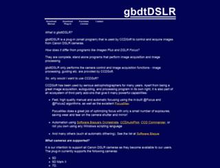 dslr.gbdt.com.au screenshot