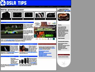 dslrtips.com screenshot