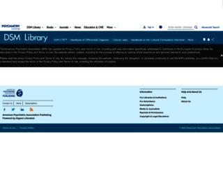 dsm.psychiatryonline.org screenshot